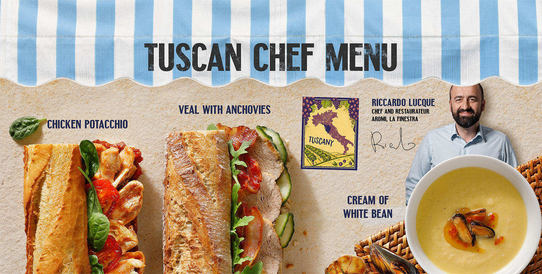 Tuscan chef menu