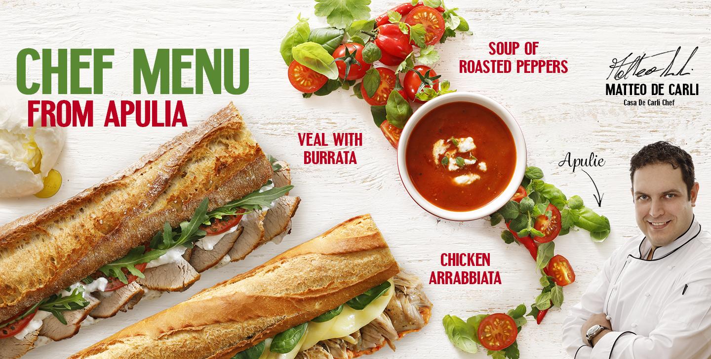 Chef menu Apulia